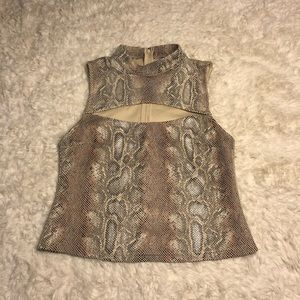 NWOT Urban Outfitters Snakeskin Tank Top with Slit